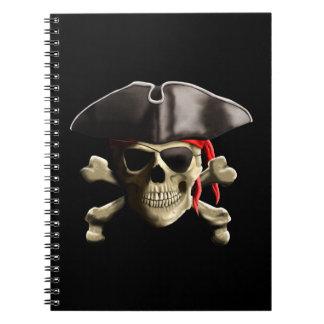 El cráneo alegre del pirata de Rogelio Libretas Espirales