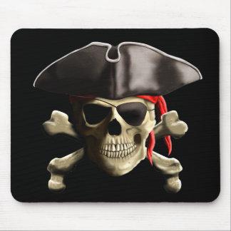 El cráneo alegre del pirata de Rogelio Mouse Pad