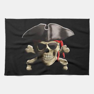 El cráneo alegre del pirata de Rogelio Toallas De Mano