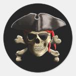 El cráneo alegre del pirata de Rogelio Pegatina