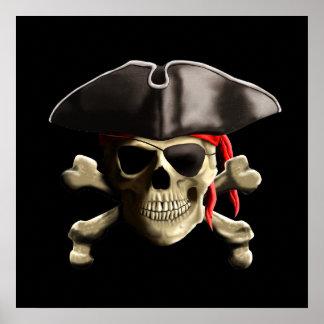 El cráneo alegre del pirata de Rogelio Póster