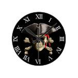 El cráneo alegre del pirata de Rogelio Relojes De Pared