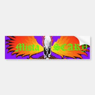 El cráneo ASUSTADIZO Phoenix de Mista flamea al pe Pegatina Para Auto