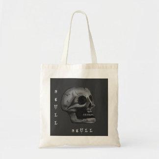 ¡el cráneo! Blanco y negro Bolsa Tela Barata