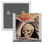 El cráneo de Adán en el detalle del Calvary del so Pin Cuadrada 5 Cm
