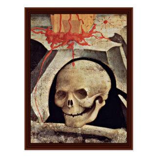 El cráneo de Adán en el detalle del Calvary del so Postales