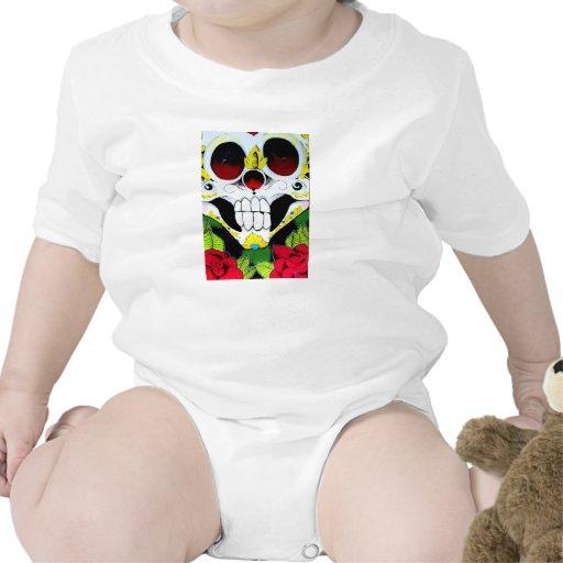 El cráneo de Drea y bebé de los rosas Traje De Bebé