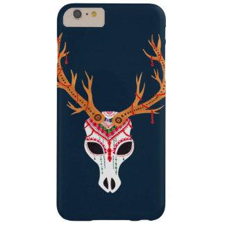 El cráneo de la cabeza de los ciervos funda de iPhone 6 plus barely there