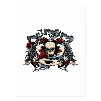 El cráneo de Sevens dispara contra el as de los Tarjeta Postal