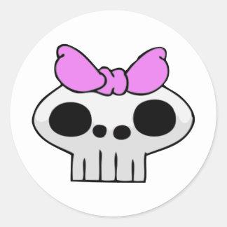 El cráneo de SkullBaby Pegatina