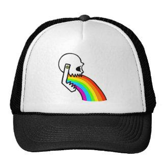 El cráneo del arco iris Puke Gorros