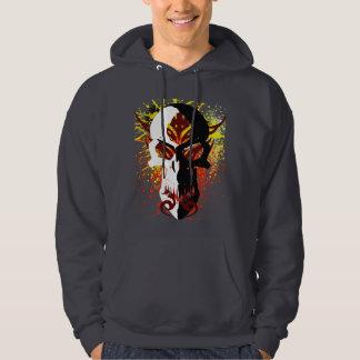 El cráneo del diablo suéter con capucha