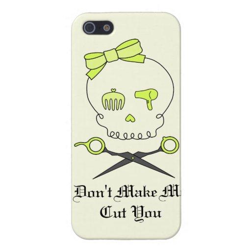 El cráneo del estilista y Scissor la bandera pirat iPhone 5 Coberturas