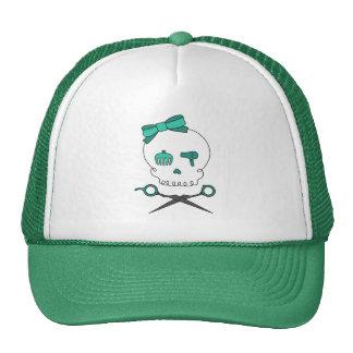 El cráneo del estilista y Scissor la bandera pirat Gorra