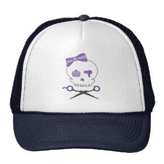 El cráneo del estilista y Scissor la bandera pirat Gorro De Camionero