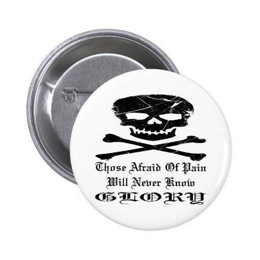El cráneo del Grunge ésos asustados de dolor nunca Pins