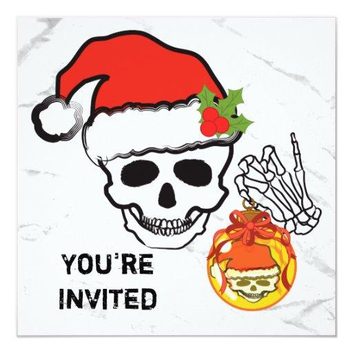 """El cráneo del navidad invita invitación 5.25"""" x 5.25"""""""