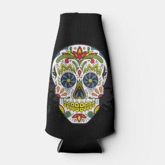 El cráneo del tatuaje del cráneo del azúcar puede enfriador de botellas