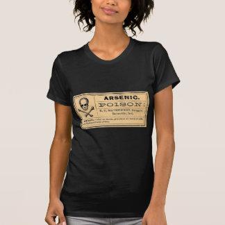 El cráneo del vintage cruzado deshuesa la etiqueta camiseta