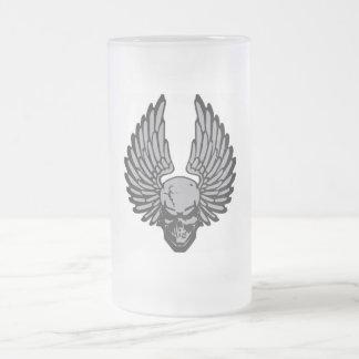 El cráneo del vuelo taza cristal mate