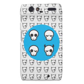 El cráneo Emotes Funda Para Motorola Droid RAZR