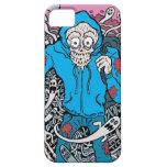 El cráneo encapuchado iPhone 5 Case-Mate protector