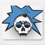 El cráneo estalla - el azul alfombrilla de ratones