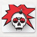 El cráneo estalla - rojo tapete de ratones