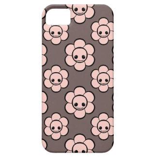 El cráneo femenino del gótico lindo de Kawaii flor iPhone 5 Carcasa