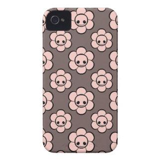 El cráneo femenino del gótico lindo de Kawaii flor Case-Mate iPhone 4 Carcasa
