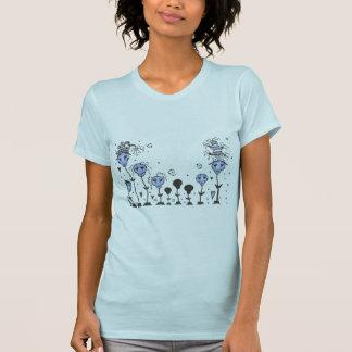 El cráneo florece el ~BLuE - modificado para Camisetas
