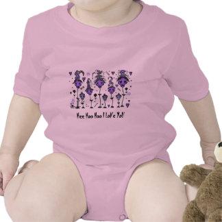 El cráneo florece la manga larga infantil - trajes de bebé