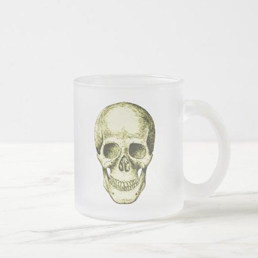 El cráneo humano taza cristal mate