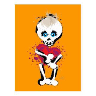 El cráneo 'n deshuesa el corazón del amor tarjetas postales