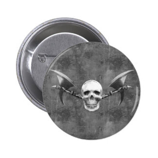 El cráneo N disminuye el botón Pin Redondo De 2 Pulgadas