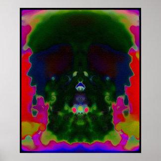 El cráneo psicodélico Trippy ocultado representa e Impresiones