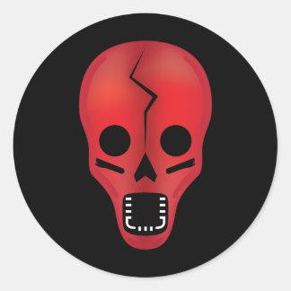 El cráneo rojo de Oogly (pegatina)