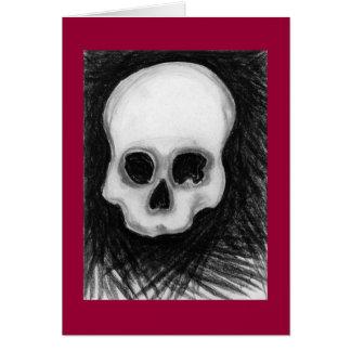 El cráneo tarjeta de felicitación