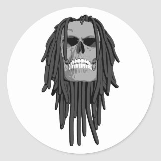 El cráneo teme pegatina redonda