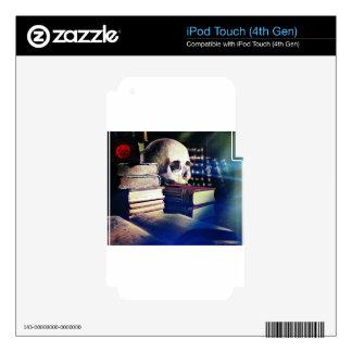 El cráneo y el encanto reservan en los regalos, la calcomanía para iPod touch 4G