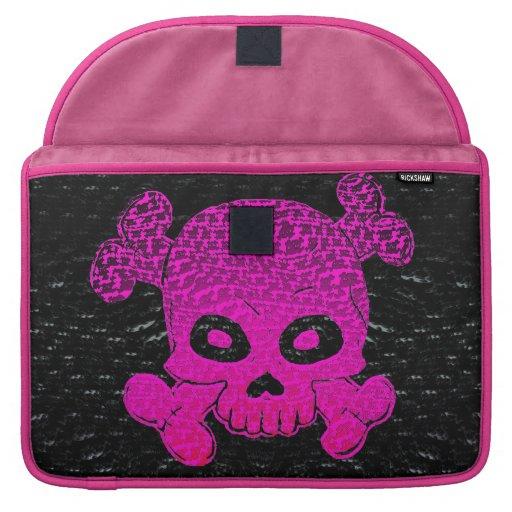 El cráneo y el rosa de la bandera pirata se descol funda para macbook pro