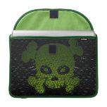 El cráneo y el verde de la bandera pirata se desco funda para macbook pro
