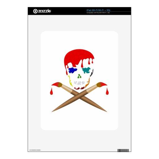El cráneo y la bandera pirata del artista skin para el iPad