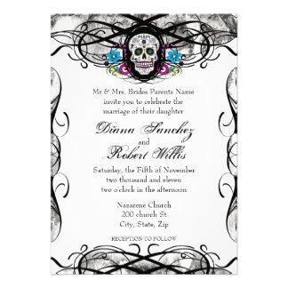 El cráneo y los Flourishes de Cavaleras Muerte inv