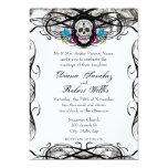 """El cráneo y los Flourishes de Cavaleras Muerte Invitación 5"""" X 7"""""""