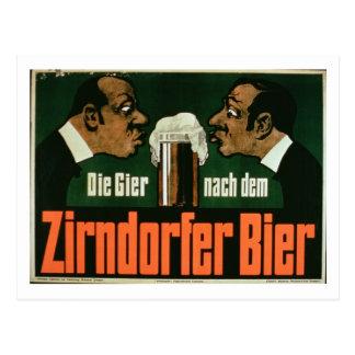 """El Craving para la cerveza de Zirndurfer"" (lith Postal"