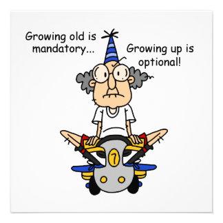 El crecer es humor opcional comunicados personalizados