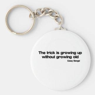 El crecer sin el crecimiento de vieja cita llavero redondo tipo pin