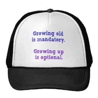 El crecimiento viejo es obligatorio gorros bordados
