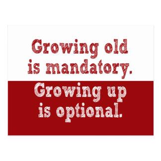 El crecimiento viejo es obligatorio postal